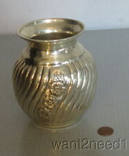 "handcrafted vtg signed ROMANA 900 SILVER VASE 5"" ribbed swirl flowers 222g"