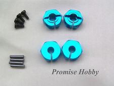 blue aluminum 12mm HEX wheel hub 6mm thickness for rc cars crawlers - 4pcs