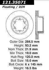 121.35071 - Centric Disc Brake Rotor,  Free Shipping!