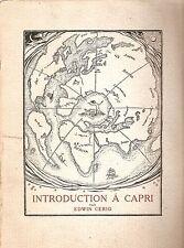 Edwin Cerio - Introduction a Capri - Bestetti 1929 Anacapri - Edizione Numerata