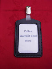 Black ID Pass Card/Badge Holder & Plastic Belt Clip,Police/SO19/Security/SIA (P)