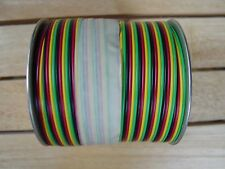 American Flyer Wire FC4C Rainbow Flat 4 Color Wire Green Yellow Black Red 25 FT