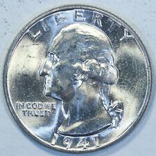 1941-P Washington Head Silver Quarter / Choice High Grade Coin / Q134