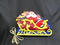 LA Goodman Jr. Santa Sleigh Illuminated 3D Plastic with Box