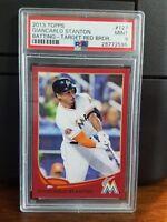 2013 Topps Target Red Giancarlo Stanton Baseball Card #127 PSA 9 Mint POP 2