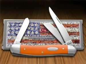 Case xx Medium Stockman Knife Smooth Orange Delrin Stainless Pocket Knives 80509