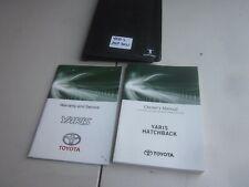 TOYOTA YARIS USER MANUALS & SERVICE BOOKS