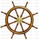 "36"" Brass Wooden Steering Nautical Beach Maritime Boat Ships Wheel Captains"