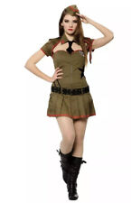 MILITARY BABE ARMY SEXY WAR SOLDIER UK 10-14 womens ladies fancy dress costume