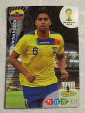Panini Adrenalyn XL Fifa World Cup Brasil 2014 card, Ecuador, Christian Noboa