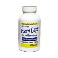 1 IVORY CAPS Glutathione Skin Whitening Max 1500mg 60 caps