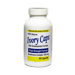 1 IVORY CAPS Glutathione Skin Whitening Max 1500mg 60 caps 05/2024