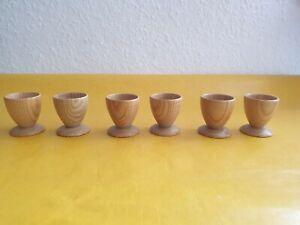 Holzeierbecher,Holz Eierbecher, 6 Stück, Eierbehälter,Eierbecher, neu