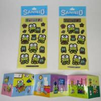 Vtg Sanrio Keroppi Sticker Lot Sheets and Mini Sticker Book SEE NOTES