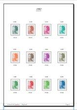 Album de timbres Liberté de Gandon à imprimer