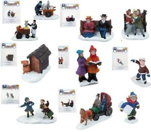 Miniature Christmas Village Characters Resin Collectibles Multipack Characters