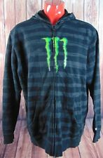 One Industries MONSTER Energy Drink Mens XL Black Green Hoodie Ken Block Sponsor