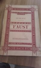 Faust by Berlioz Novello Original Octavo Edition