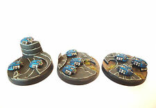 WARHAMMER 40K Armée NECRON Scarab Bases X3 WELL PAINTED AND BASED