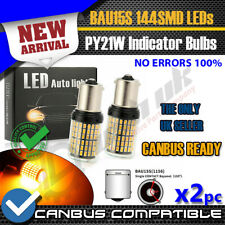 X2 BAU15S 144SMD Amber LED Canbus Turn Signal Indicator Light Bulbs 12V UK