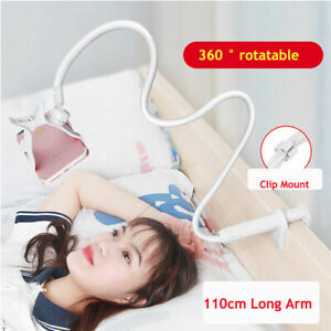 Smart Phone Holder Clamp Bed Desk Lazy Stand 360 Flexible Arm For Phone Android