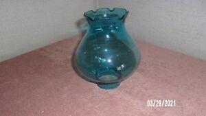 """Oil Lamp Chimney 2"""" fitter, Blue"""