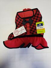 Top Paw Red and Black  Vest Harness w Bow  Size Medium