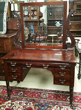Antique Mahogany Vanity Dresser by R.J.Horner Original Label Incredible Carving