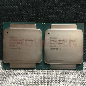 Matching pair Intel Xeon E5-2670V3 CPU 12-Core 2.3GHz SR1XS LGA 2011-3 Processor