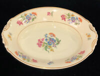 "Aberdeen China*IVORY*FLORAL & GOLD* 10 1/4"" OVAL BOWL*ABE3*"
