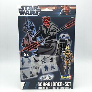 Orbis Schablonen Set Star Wars III Revell Airbrush 5 Schablonen Sprühset NEU