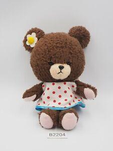 "Bear's school Jackie B2204 Dress Girl Sekiguchi Plush 6"" Stuffed Toy Doll Japan"