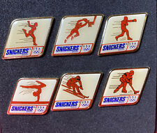 1992 Barcelona Olympic Games: Official Snickers Pin Set of 6 in Plastic Case