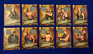 WWE Matitude Event-Used Trading Cards - The Rock, Hull Hogan, Brock, Undertaker
