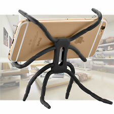 New Spider Flexible Grip Holder Stand Mount for iPhone SAMSUNG HTC Phone Black