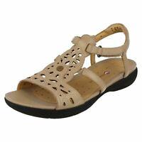 Ladies Clarks Unstructured Sandals Un Valencia Sand Leather Size UK 6