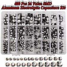 400Pcs 24 Valores SMDCondensador Condensador Electrolítico Aluminio Surtido Kit