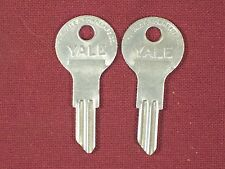 2 NOS Yale Key Blank for Vintage / Antique Padlock Yale 9826 ? Ilco 1122d ?