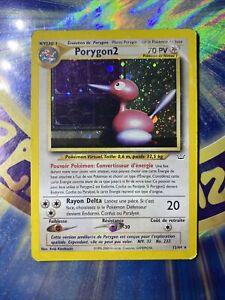 Pokémon carte Porygon2 (Holo) Neo Revelation RARE VF Français 12/64 Foil