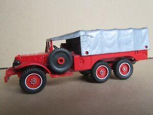 87R 1975'S Solido 242 France Dodge 6X6 T223 WC63 Pompiers SDI de l'Eure 1:50