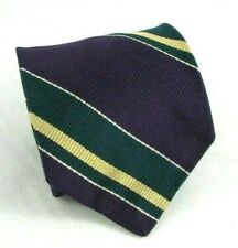 Robert Talbott Men's Necktie 100% Purple /Green Stripe Pattern  Tie  56""