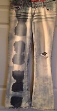 Miss Sixty Woman's Original Distressed Stone Washed Italy Low Rise Jeans-Size 28