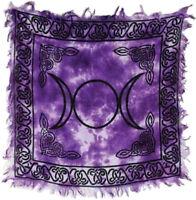 Triple Moon Goddess Celtic Knots Wicca Pagan 18x18 Altar Tarot Side Table Cloth