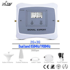 2G 3G Dual Band 850/1900MHz Signal Booster Cell Phone Repeater for home