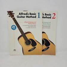 Alfred's Basic Guitar Method Book 1/ 2 Guitar Lessons 2 Books