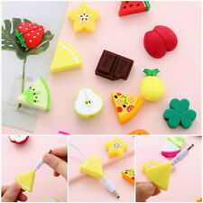 Phone Charger Cable Bite Cute Fruits Cord Protector Soft Silicone Accessories