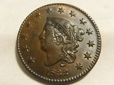 1832 Large Cent N-3 .Nice Unc Brown Coin