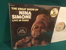 Nina Simone – The Great Show Of Nina Simone Live In Paris Vinyl N/M  LP