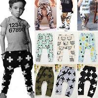 Baby Kids Animal Print  Harem Trousers  Boys Sweatpants Elastic Leggings Joggers