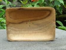 Seifenschale Teak Holz, Massive Ware